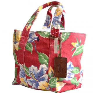 POLO Ralph Lauren floral canvas tote bag