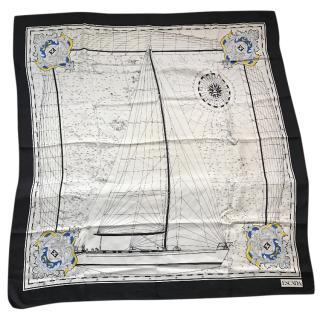 Escada vintage silk scarf