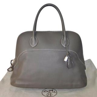 Hermes Relax Bolide 35cm Etain Veau Sikkim Leather