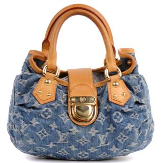 Louis Vuitton denim monogram pleaty bag