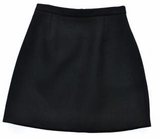 Saint Laurent black wool mini skirt
