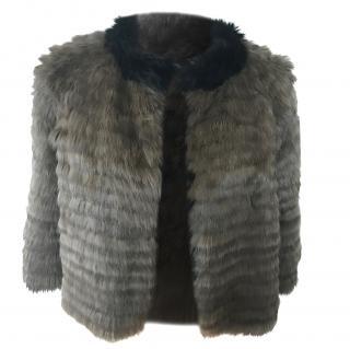 Reversible Rabbit Fur Jacket