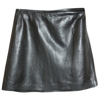Joseph leather wrap-around skirt W 28 inches
