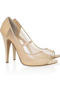 Bionda Castana Beige Mesh Heels 39.5
