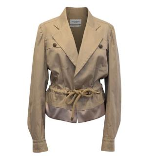 Yves Saint Laurent Dark Beige Cotton Jacket