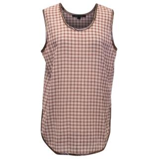 Marc Jacobs Burgundy Check Sleeveless Top