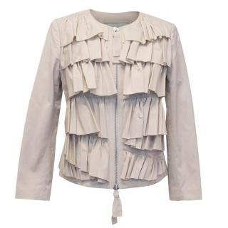 Phillip Lim Beige Frilled Jacket