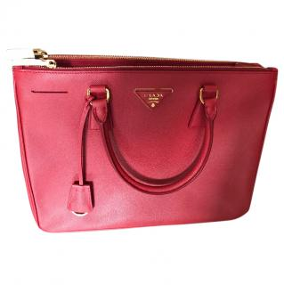 Prada Red Galleria Bag