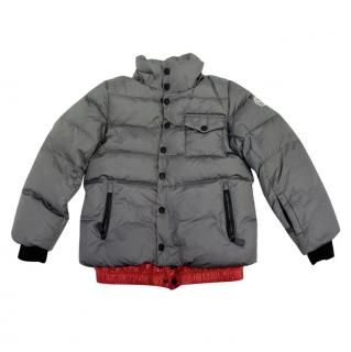 Moncler Childs Unisex Grey Puffer Jacket