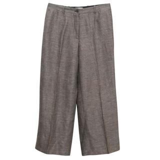 Celine Tweed Brown Palazzo Trousers