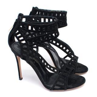 Gianvito Rossi Black Caged Stiletto Heels