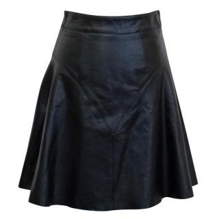Hanley Mellon Black Leather Circle Skirt