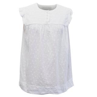 Stella McCartney White Polka Dot Cotton Top