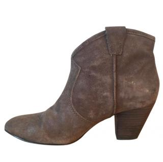ASH 'Jalouse' brown Topo suede pull on ankle boots