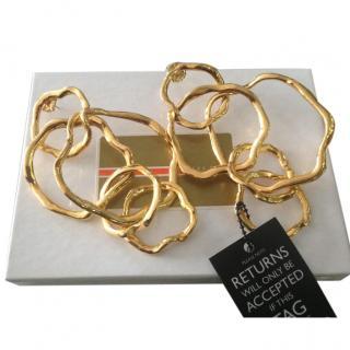 Never Worn Kara Ross Statement Gold Earrings