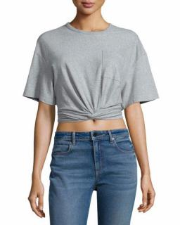 Alexander Wang Grey Cropped Top