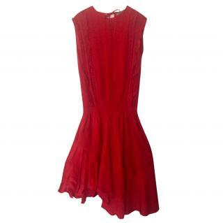 Preen Satin & Chiffon Dress