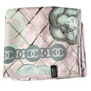 Chanel camellia scarf
