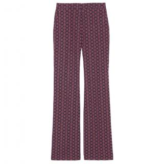 Sandro Patterned Flare Trousers