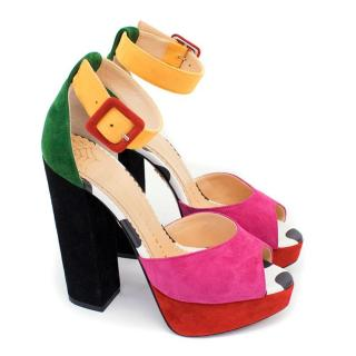 Charlotte Olympia Eugenie Multicolour Platform Sandals