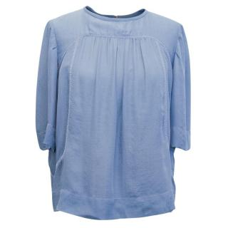 Isabel Marant Blue Silk Blouse