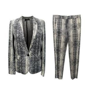 The Kooples Snake Printed Jacket and Trouser Set