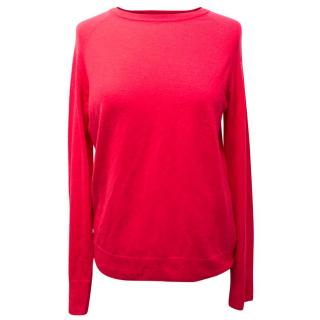 Equipment Wool and Cashmere Blend Fine Knit Pink Jumper