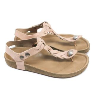 Isabel Marant Light Pink Thong Sandals