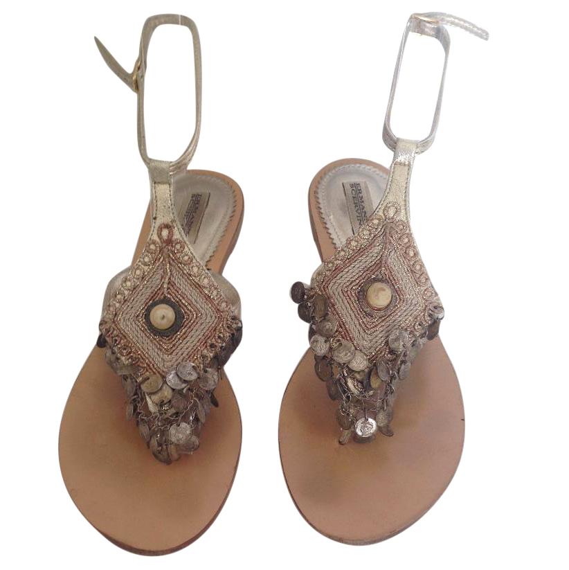Ermano Scervino greek style flat sandals
