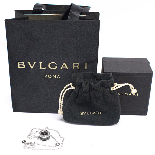 Bvlgari B Zero 18kt White Gold Ceramic Pendant Necklace