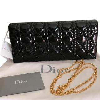 Dior Black Patent Evening Clutch
