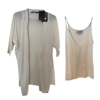 Yves Saint Laurent Cardigan and Top Twin Set