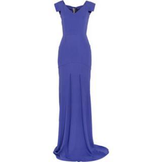 Roland Mouret Violet Phoenix Stretch-Crepe Gown