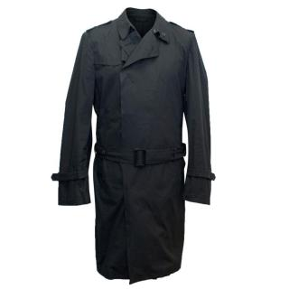 Costume National Men's Black Lightweight Trench Coat