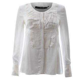 Givenchy Silk Ruffled Blouse