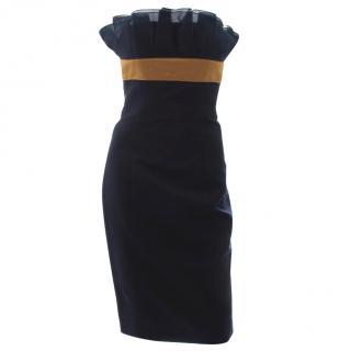 Jason Wu Strapless Silk Pleat Detail Dress