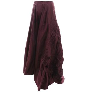 Pianoforte Di Max Mara Silk Ruched Evening Skirt