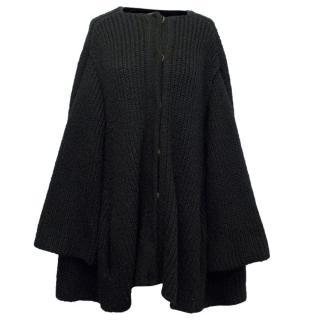 Balenciaga Black Knit Chunky Cardigan