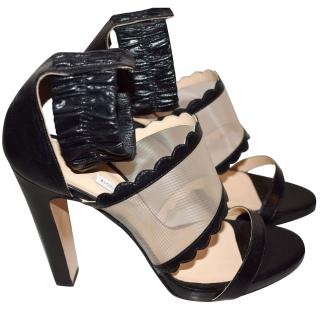 Bionda Castana leather and mesh heels