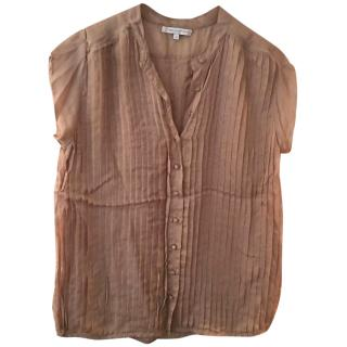 Paul & Joe Sister Beige Pleated Blouse