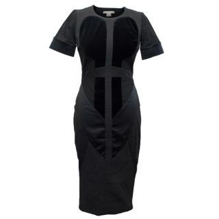Antonio Berardi Black Textured Fitted Dress