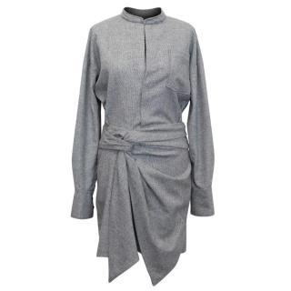 Isabel Marant Black and White Tweed Shirt Dress