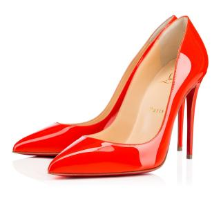Christian Louboutin Pigalle Follies Patent in Capucine