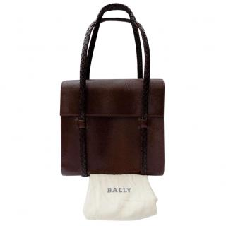 Bally Vintage Brown Leather Handbag.