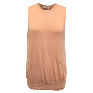 Celine Peach Silk Vest Top