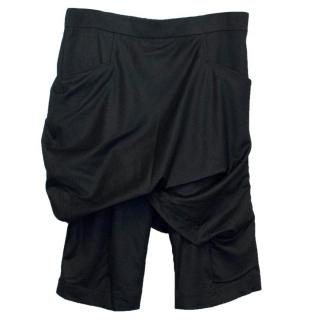 Thamanyah Men's Black Crotch Shorts