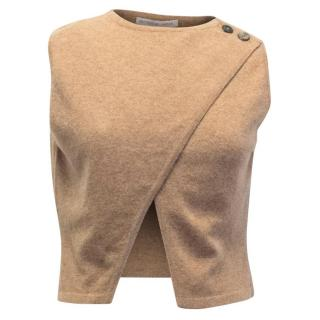 Matthew Williamson Camel Cropped Vest Top
