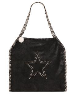Stella McCartney Black Star Shaggy Deer Falabella Bag