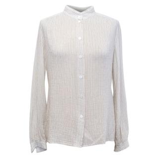 Marc Jacobs Pin Striped Cream Blouse