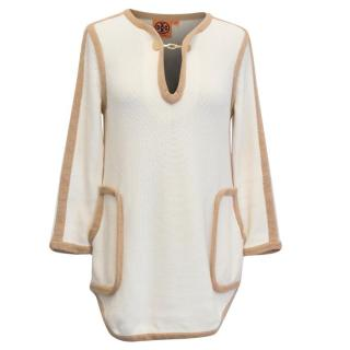 Tory Burch Cream Tunic Jumper